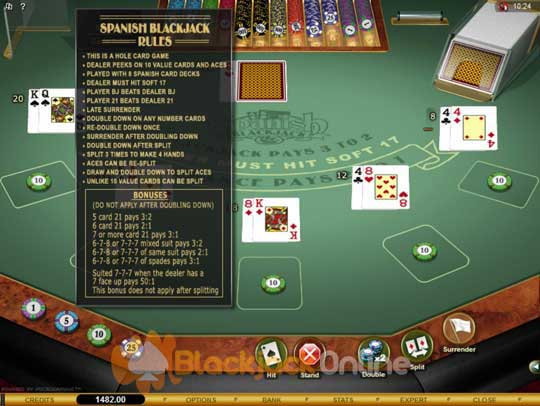 Blackjack drawing rules